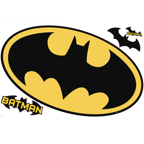 Batman Logo Dry Erase Peel and Stick Giant Wall Decals by York Wallcoverings Inc