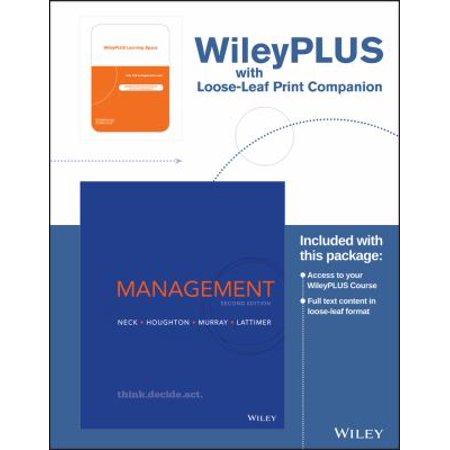 Management   Wileyplus Learning Space  Print Companion