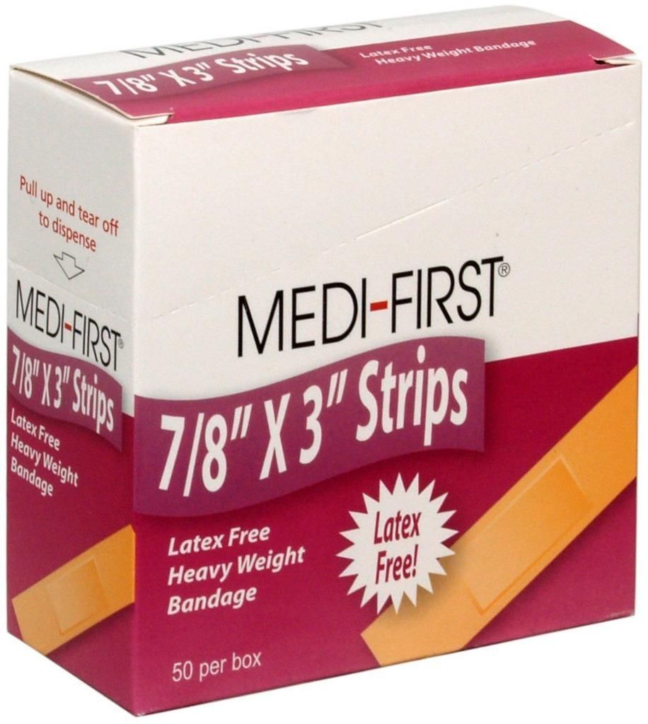 MEDI-FIRST Brand Flexible Strips Adhesive Bandages, 400-Ct