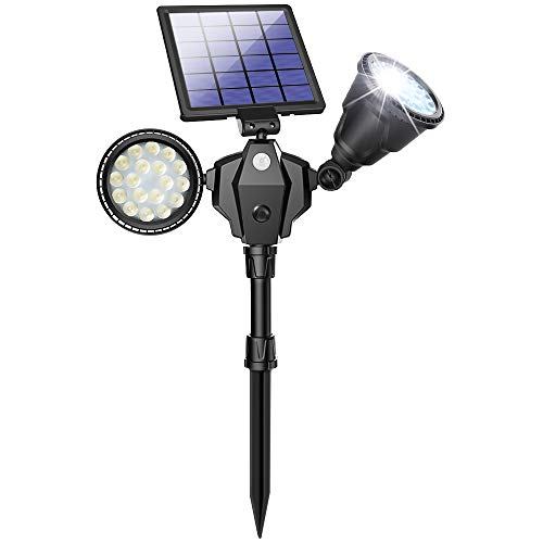 Details about  /Motion Sensor Security Light Outdoor Led Solar Lamp Garden Waterproof Dual Spot