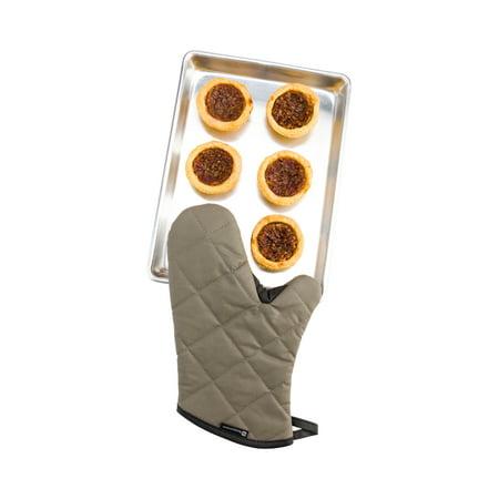 Thumb Mitt (Gray Cotton Oven Mitt - Flame Retardant, with Thumb Guard - 13