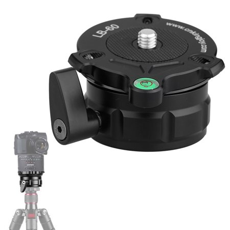 Dewalt Adjustable Level (69mm Speedy Adjustable Leveling Base Panning Level with Offset Bubble Level for All Tripods with 1/4
