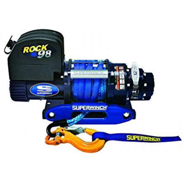 Superwinch 1698201 ROCK 98, 12 VDC Competition Winch, 9,800lb 4445 kg with 3 8 x 50' Synthetic Rope... by Superwinch