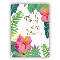 Note Card-Thank You-Tropical-Psalm 33:5 KJV (Pack of 10)