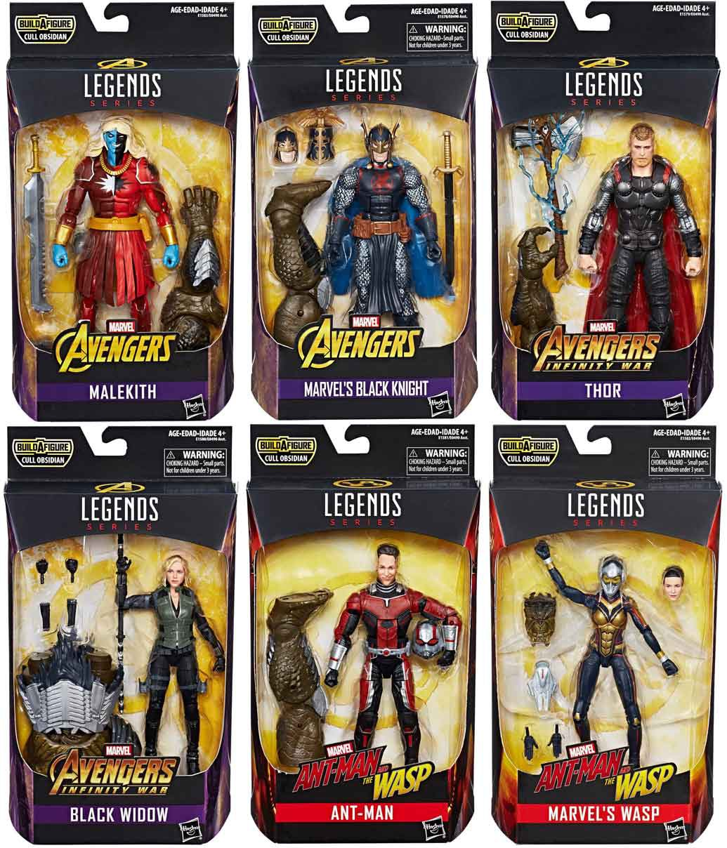 Avengers: Infinity War Marvel Legends Cull Obsidian Series Set of 6 Action Figures by