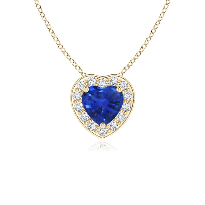 Angara 4mm Blue Sapphire Pendant in Rose Gold dWhElzoTW
