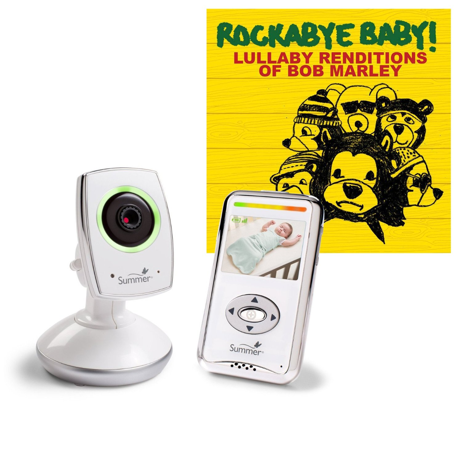 Summer Infant Baby Zoom Wi-Fi Video Monitor and Internet Viewing System with Lullaby CD