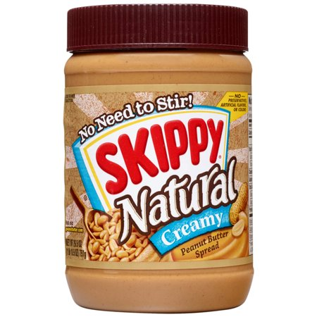 (2 Pack) Skippy Natural Creamy Peanut Butter Spread, 26.5 Ounce (Natural Peanut Butter Skippy)