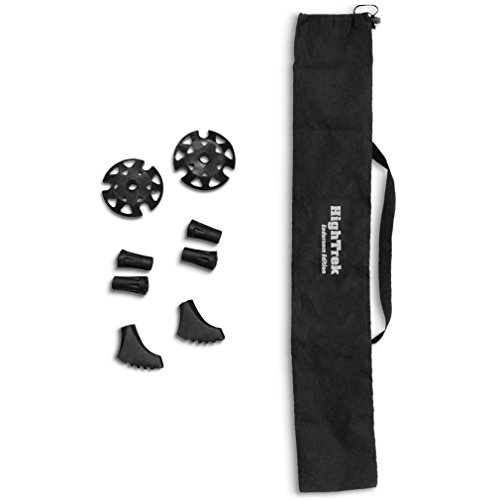 Click here to buy High Trek Trekking Pole Tips and Carrying Bag Accessories Kit.
