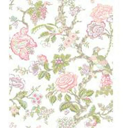 - Waverly Classics Casa Blanca Rose Wallpaper, Cream/Rosy Pink/Aqua/Lilac/Lime/Moss/Taupe/Red Raspberry