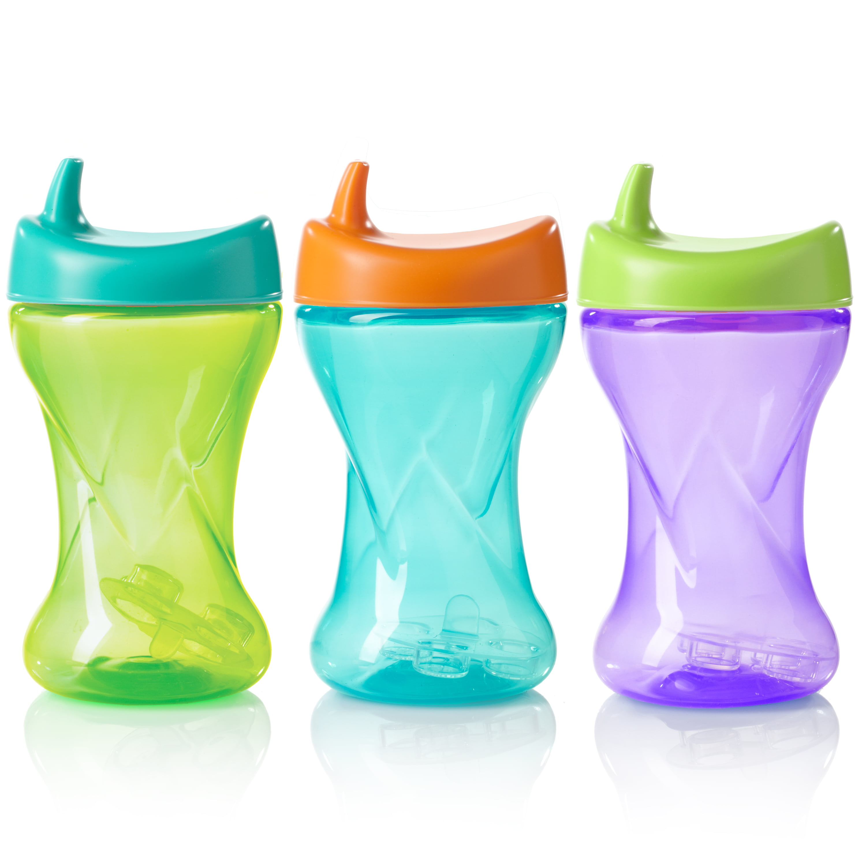 Evenflo Feeding Tripleflo Twist Hard Spout Sippy Cup with 1-Piece Silicone Valve 10oz, Assorted, 3pk by Evenflo