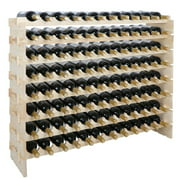 ZENSTYLE Stackable Modular Wine Rack 96 Bottle Wine Storage Stand Wooden Wine Holder Display Shelves