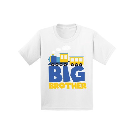 Awkward Styles Funny Train Toddler Shirt Train T Shirts for Grandson Clothing Bro Tshirt for Kids Birthday Gifts for Brother Brother Collection Toddlers Shirts Gifts for Boys I'm Big Brother Shirt ()