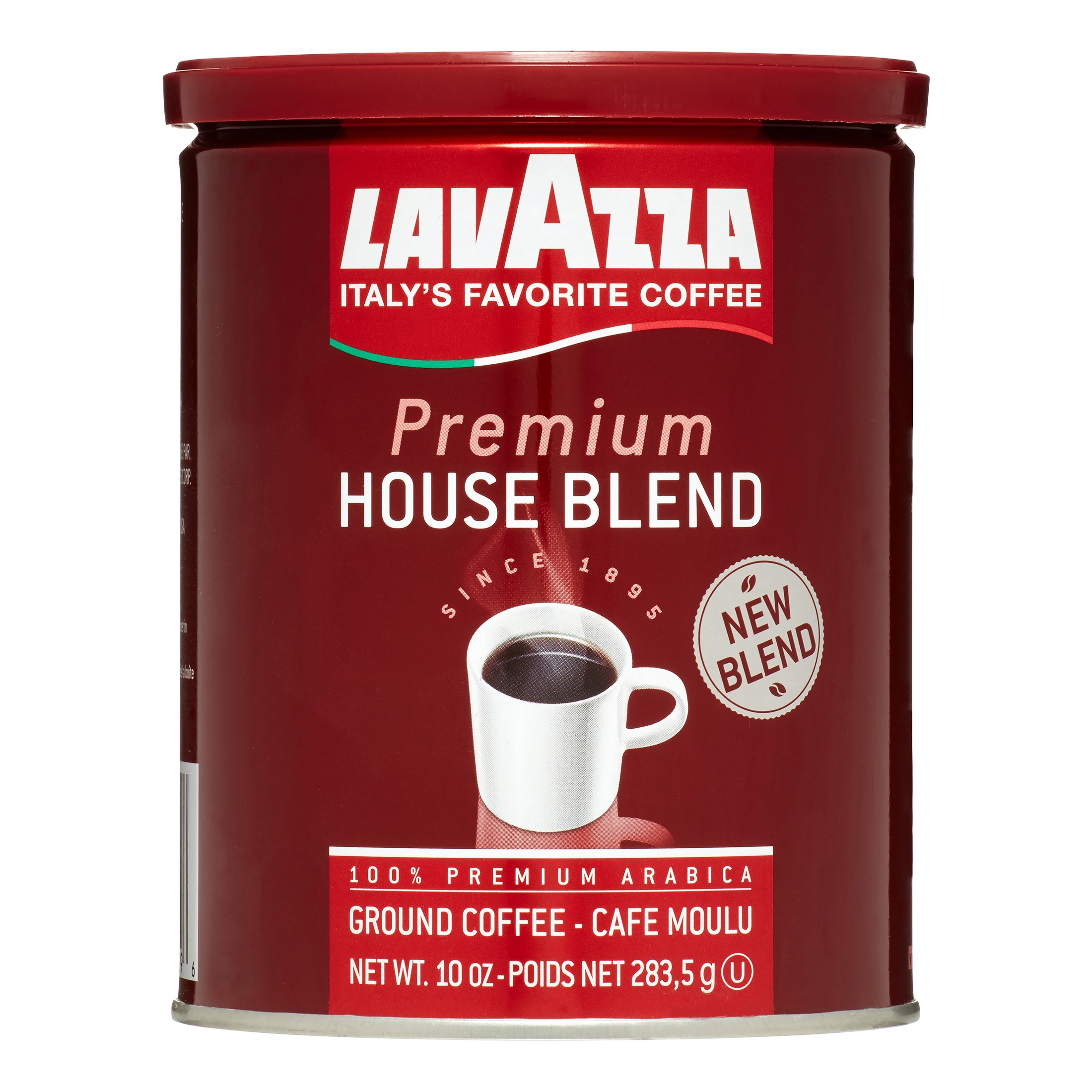Lavazza Premium House Blend 100% Premium Arabica Ground Coffee, 10.0 OZ