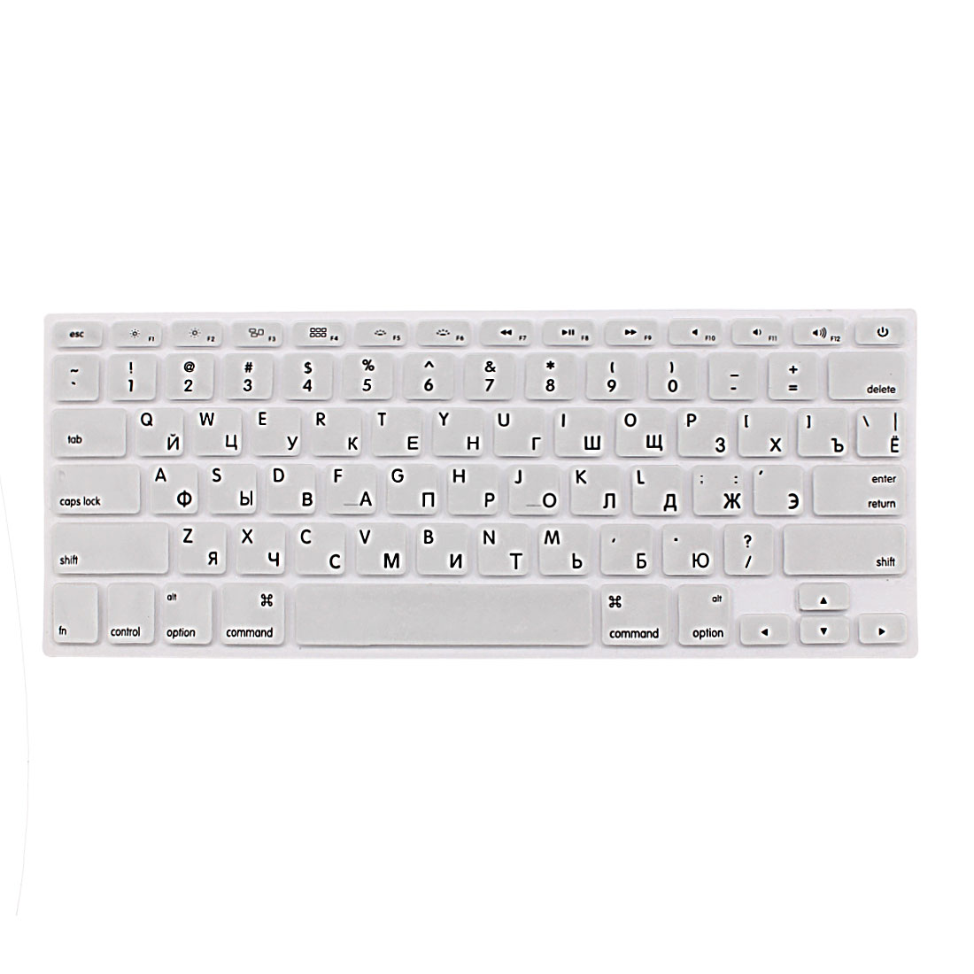 "Russian Keyboard Skin Cover Silver Tone for Apple Macbook Air 13""15""17"" US"