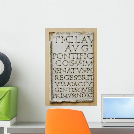 Tablet with Latin Letters Wall Mural by Wallmonkeys Peel and Stick Graphic (18 in H x 12 in W) WM200481 (Peel And Stick Letters)