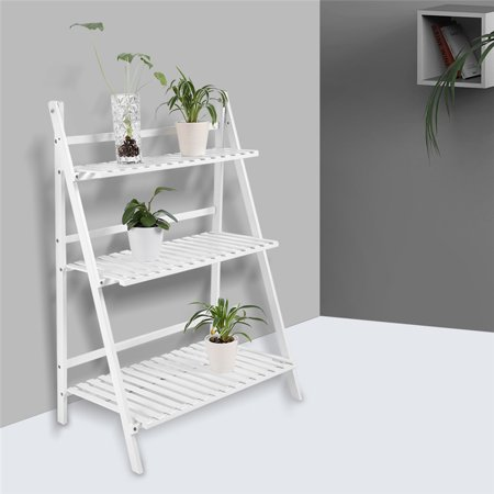 EECOO Multi Layer Foldable Flower Plant Pots Rack for Balcony Living Room Garden