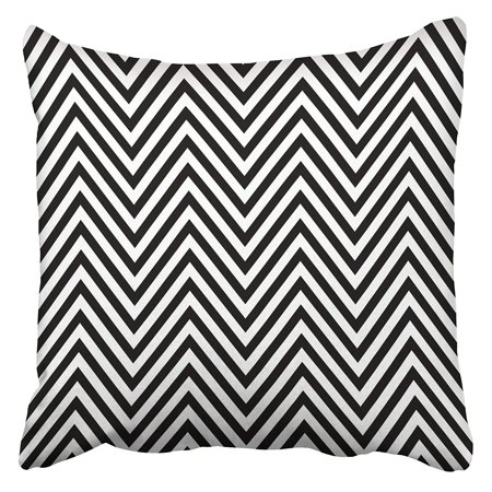 - ARHOME Zigzag Lines Jagged Stripes Pattern Design with Sharp Waves Repeated Chevrons Fills Pillow Case Cushion Cover 16x16 inch