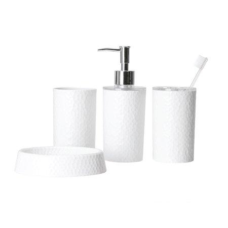Bath Bliss 4pc Bathroom Accessory Set