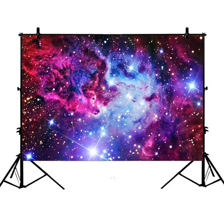Star Wars Photo Backdrop (GCKG 7x5ft Galaxy Photography Backdrop,Galaxy Space,Universe Stars Polyester Photography Backdrop Studio Photo Props)