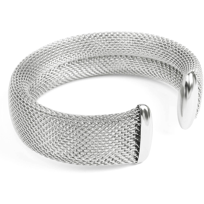 Women's Stainless Steel Mesh Cuff Bracelet