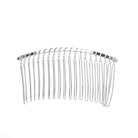 3pcs 7.8cm 20 Teeth Fancy DIY Metal Wire Hair Clip Combs Bridal Wedding Veil Combs (Silver) - Rapunzel Hair Diy