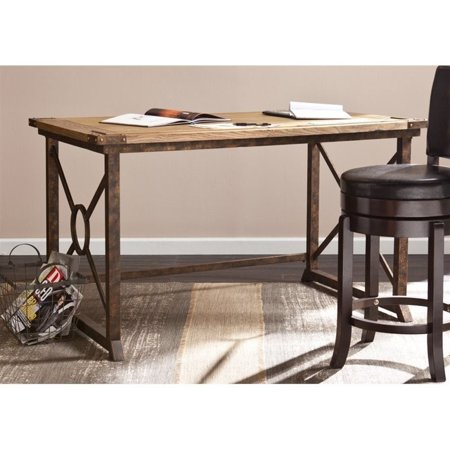 Knightley TiltTop Drafting Table in Weathered Oak Finish