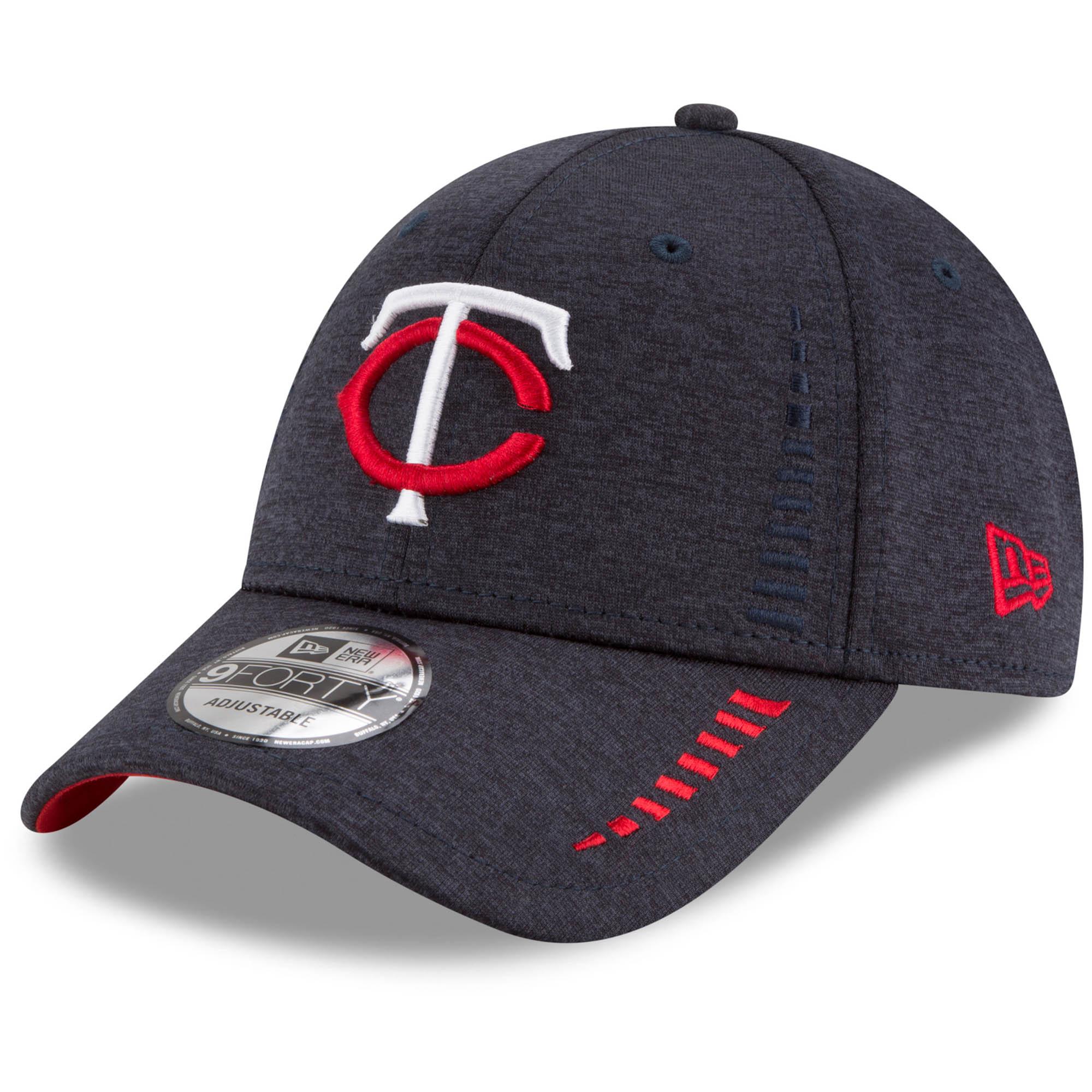Minnesota Twins New Era Speed Shadow Tech 9FORTY Adjustable Hat - Navy - OSFA
