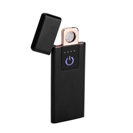 WALFRONT USB Rechargeable Ultra-thin Flameless Windproof Electronic Cigarette Lighter with Touch Switch, Flameless Lighter, Rechargeable Lighter](Flameless Lighter Wand)