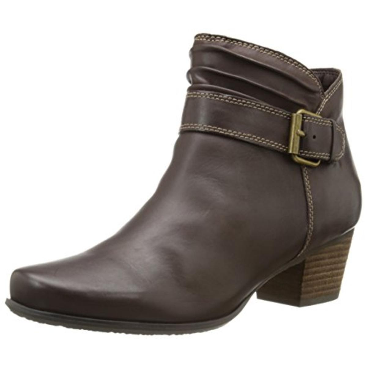 SoftWalk Womens Dublin Leather Belted Ankle Boots by SoftWalk