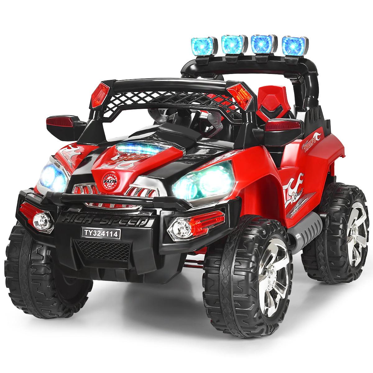 12v Kids Ride On Truck Car Suv Mp3 Rc Remote Control W Led Lights Music Walmart Com Walmart Com