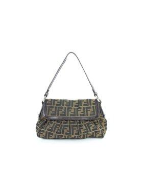 d50891a5f6f3 Product Image PRE-OWNED Monogram Ff Zucca Flap 17fz0114 Brown Canvas  Shoulder Bag. Fendi