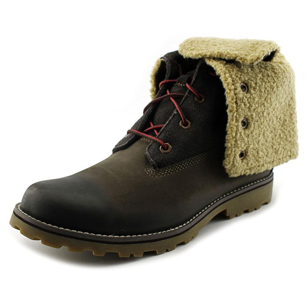 Image of Timberland Auth Shrling Boot Youth Round Toe Leather Boot