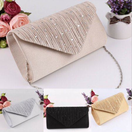 Women Evening Wedding Party Prom Bridal Clutch Purse Handbag Shoulder Bag US Prom Evening Bags