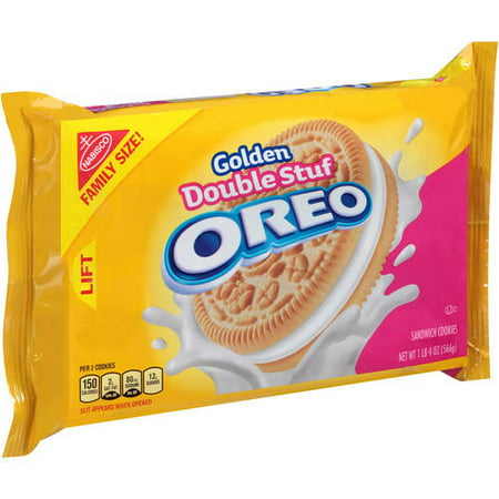 (2 Pack) Nabisco Golden Double Stuf Oreo Sandwich Cookies, 20 oz (Oreo Cookie Recipes Halloween)
