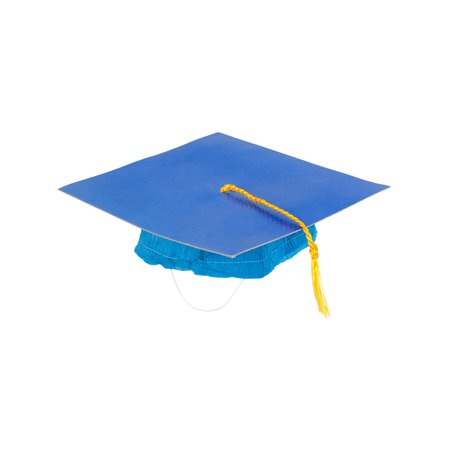 Adults Blue Graduation Graduate Grad Cap Hat With Tassel Costume Accessory (Graduate Hat)