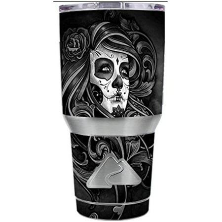 Skin Decal Vinyl Wrap for Ozark Trail 30 oz Tumbler Cup Stickers Skins Cover (6-piece kit) / Sugar Skull Girl