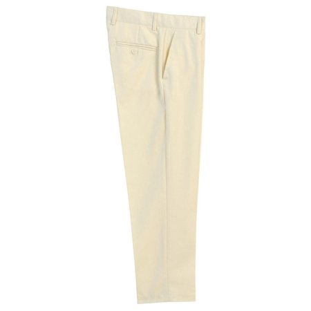 Boys Ivory Flat Front Formal Special Occasion Dress Pants 8-18