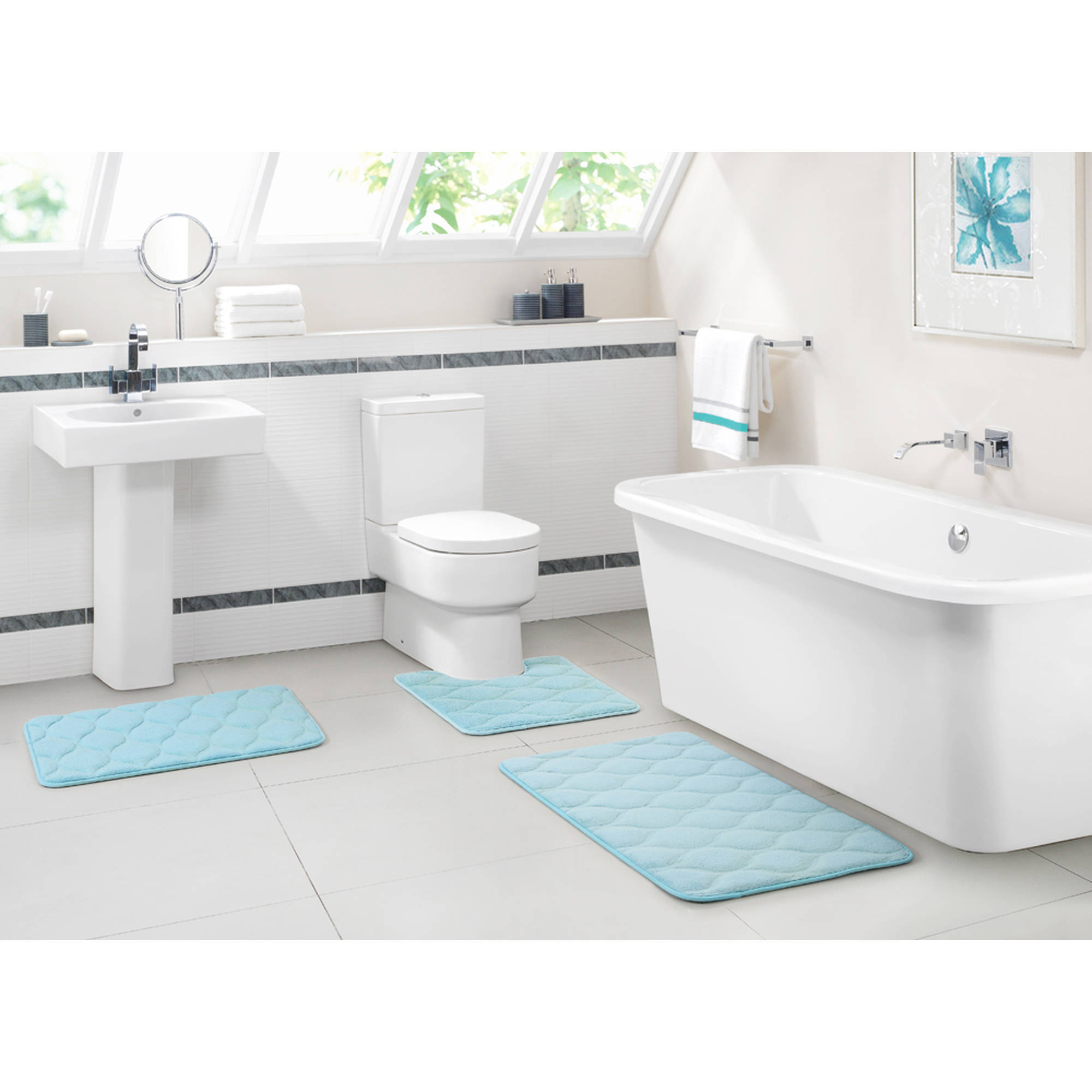 ***DISCONTINUED*** VCNY Home Ogee 3-Piece Memory Foam ...
