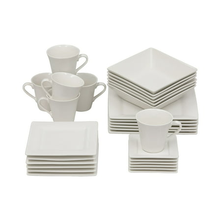 10 Strawberry Street Nova 30 Piece Dinnerware Set Cream White