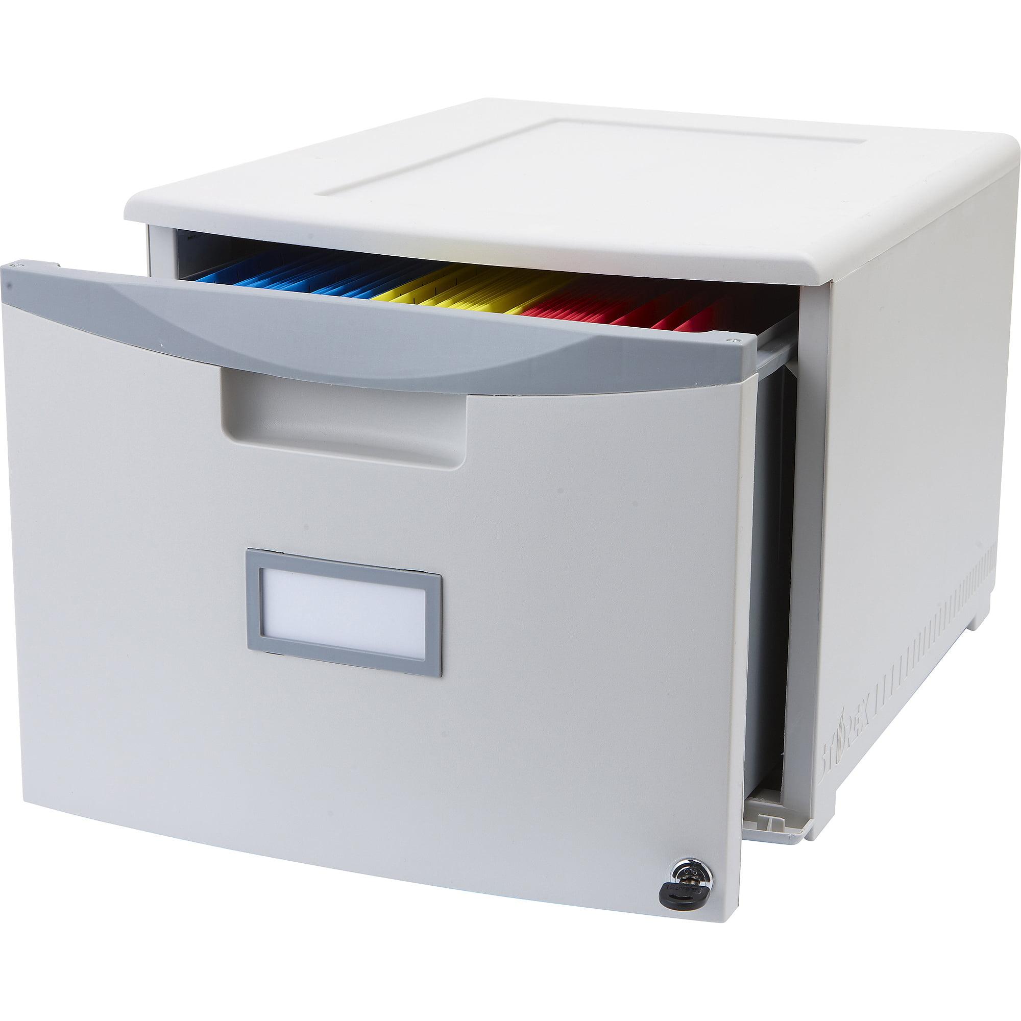 Storex Single-Drawer Mini File Cabinet with Lock, Legal/Letter - Walmart.com