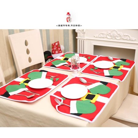 Christmas Table Mat Placemat Kitchen Dining Cloth Pad Decorations ()