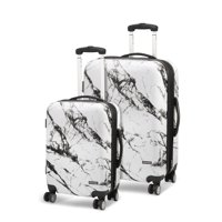 Deals on Geoffrey Beene 2 Piece Marble Hardside Luggage Set