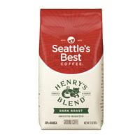 Seattle's Best Coffee Henrys Blend Dark Roast Ground Coffee, 12-Ounce Bag