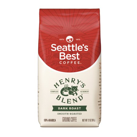 Seattle's Best Coffee Henrys Blend Dark Roast Ground Coffee, 12-Ounce