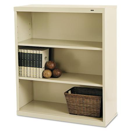 Tennsco Metal Bookcase, Three-Shelf, 34-1/2w x 13-1/2d x 40h,
