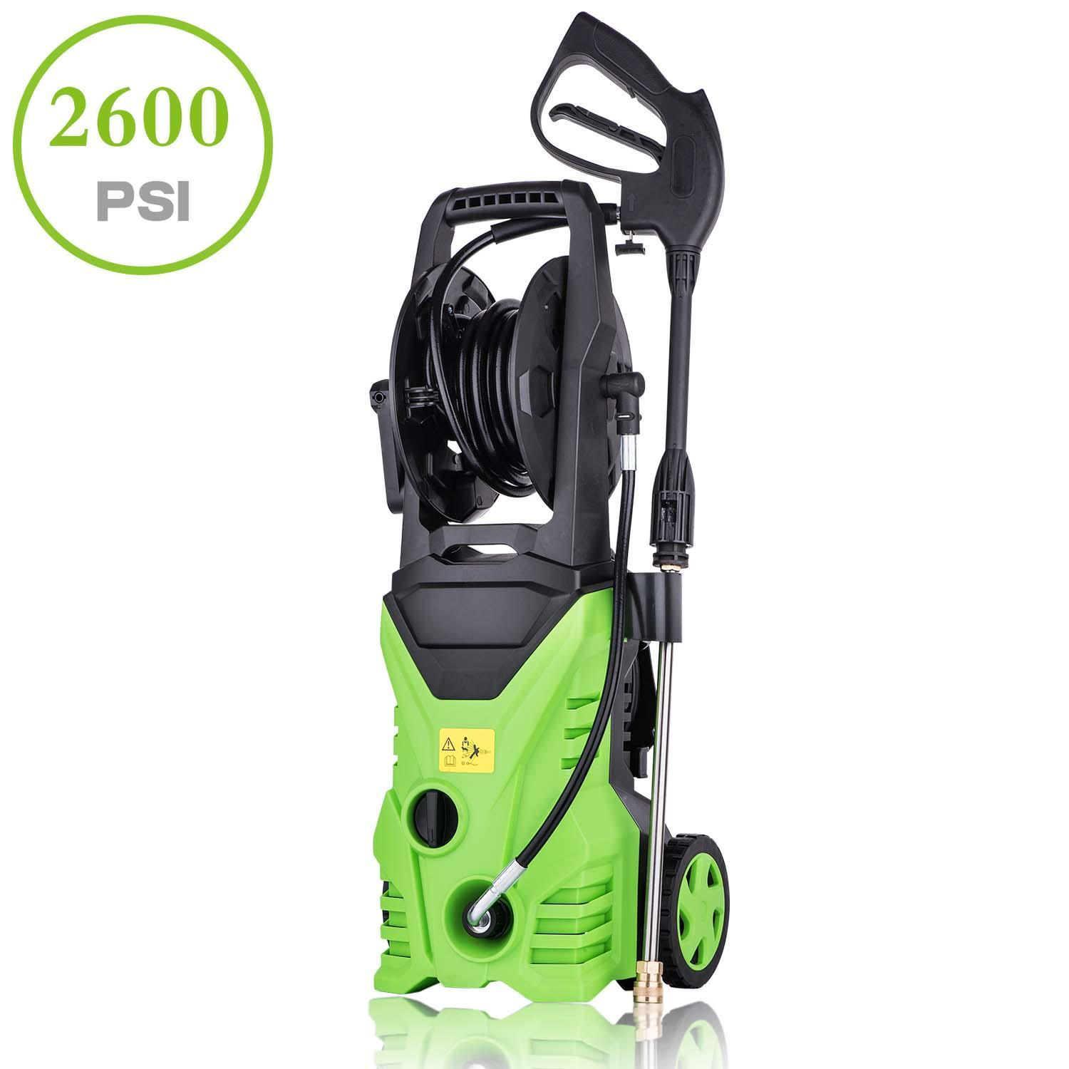 Homdox 3000 Psi Professional Electric Pressure Washer 1 76gpm 1800w Rolling Wheels High Pressure Washer Cleaner Machine With Power Hose Nozzle Gun And 5 Quick Connect Spray Tips Hitc Walmart Com Walmart Com