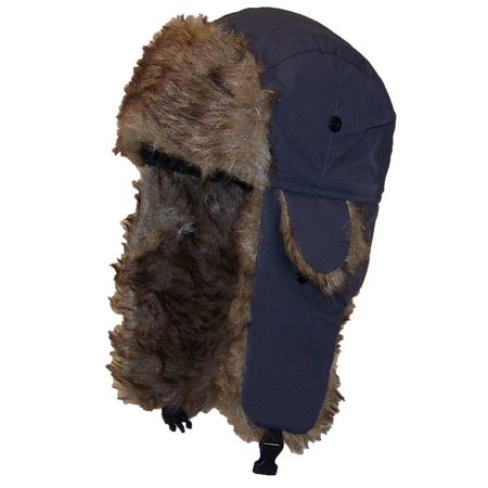 5133a89154b Best Winter Hats Solid Color Nylon Russian Trapper W Soft Faux Fur Hat (One  Size) - Gray - Walmart.com