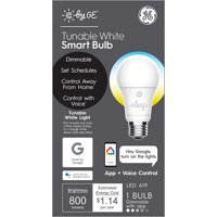 GE (C by GE) LED Smart Bulb,Tunable White, A19 1pk