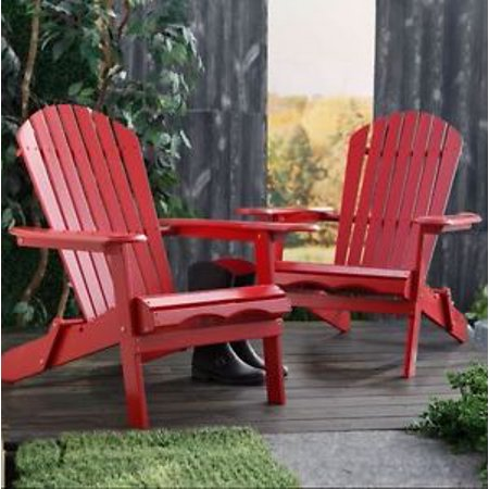Mainstays Red Adirondack Chair
